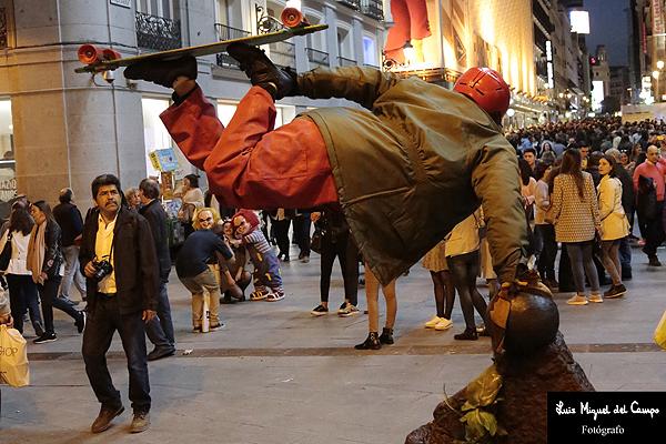 Estatua viviente tomada por uno de los fotógrafos profesionales de Madrid