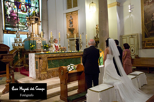 Reportaje de boda religiosa