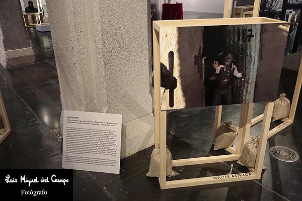 Obra de la exposición fotográfica en el Cuartel del Conde Duque de Madrid
