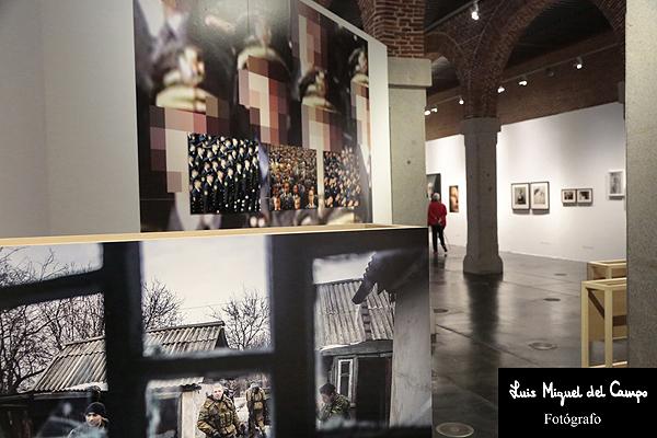 Varias de las obras expuestas en el Cuartel del Conde Duque