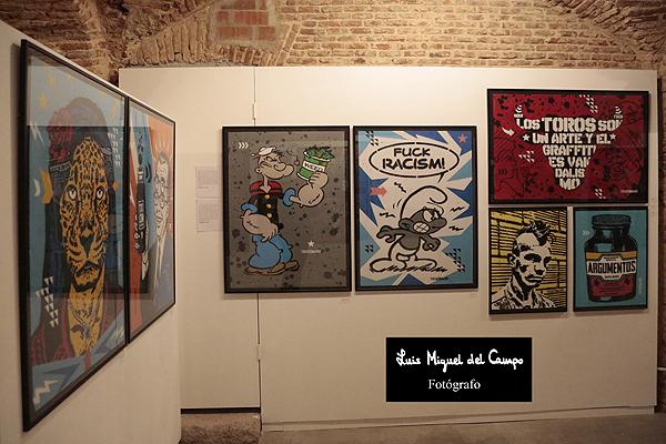 Expo de grafiti en La Fiambrera de Madrid, creados por Toxicómano Callejero