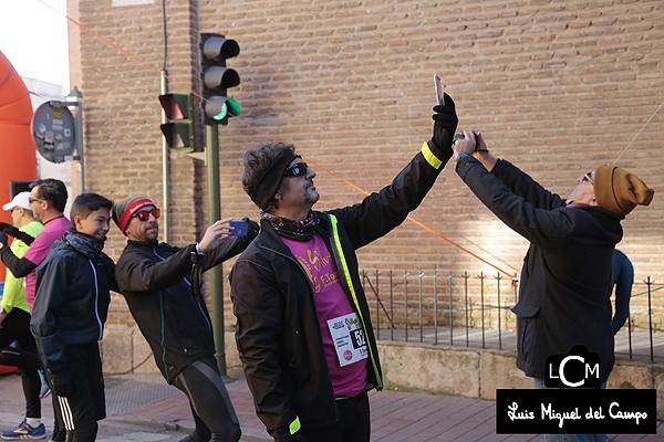 Fotógrafo profesional en un maratón de Madrid