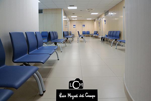 Sala de espera fotografiada por el fotófgrafo profesional en Madrid LMC