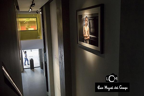 Aspecto de la sala con una de las fotografías de Adriana Zehbrauskas