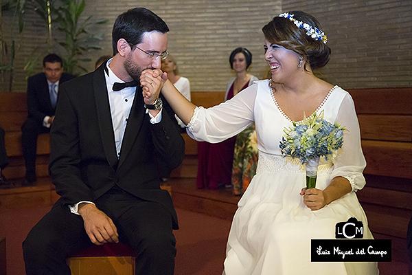 Fotografía natural de boda en Madrid
