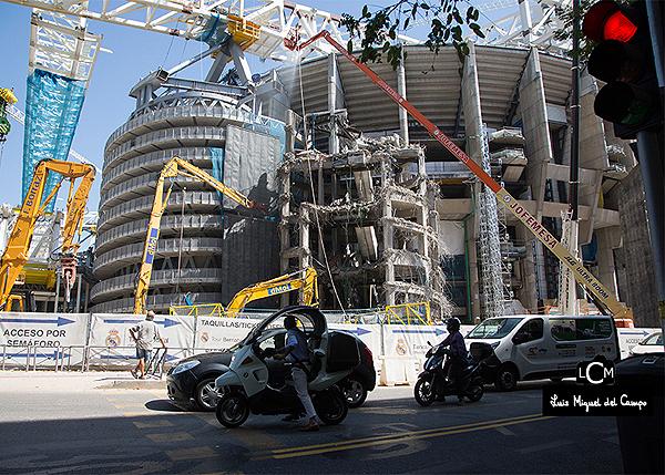 Reforma en el estadio Santiago Bernabéu